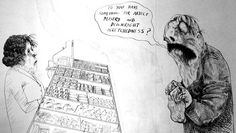 Powerful political art by Ralph Steadman – resistance words
