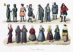 Sardegna ~  Abiti tradizionali ~ Costumi sardi in serie ~ Immagini
