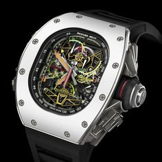 Richard Mille RM 02 ACJ Tourbillon Split Second Chronograph Limited Edition of by watchroshan Richard Mille, Dream Watches, Cool Watches, Unique Watches, Beautiful Watches, Wrist Watches, Men's Watches, Aftershave, Tourbillon Watch