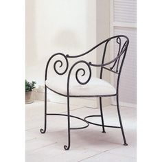 Iron Furniture, Steel Furniture, Custom Furniture, Furniture Design, Wrought Iron Patio Chairs, Iron Art, Home Living Room, Interior Styling, Outdoor Chairs