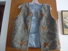 Womens Vintage Wool Embroidered Ethnic Peasant Vest by BathoryZ, $39.00