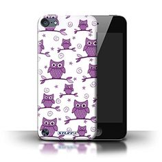 STUFF4 Phone Case / Cover for Apple iPod Touch 5 (5th Generation) / Purple/White Design / Cute Owl Pattern Collection / by Deb Strain / Penny Lane Publishing, Inc. Stuff4® http://www.amazon.co.uk/dp/B00Q1NZ6ZY/ref=cm_sw_r_pi_dp_xqOSub0Y25MAK