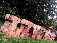 'LIVE MUSIC' wood carving at Westonbirt Arboretum's Treefest 2013