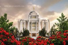 A lovely sunrise at the Meridian Idaho Temple. Fine art painting by Brent Borup. Mormon Temples, Lds Temples, Logan Temple, Boise Temple, Lds Temple Pictures, Sunrise Painting, Summer Painting, Meridian Idaho, Cathedral Architecture