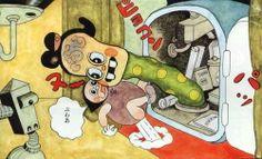 Shigeru Sugiura -  杉浦 茂 Japanese Art, Japanese Illustration, Illustration Design, Classic Cartoons, Retro, Art, Cartoon, Manga, Graphic Art