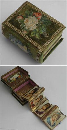 Genuine antique Victorian sewing needle case box circa 1870