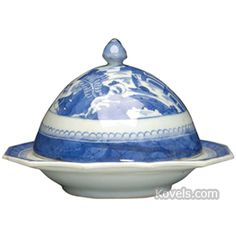 Canton China Cover, 12-Sided Base, Pointed Finia Butter