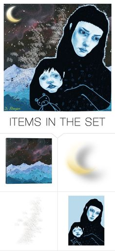 """Madonna and Child"" by deborah-strozier ❤ liked on Polyvore featuring art and modern"