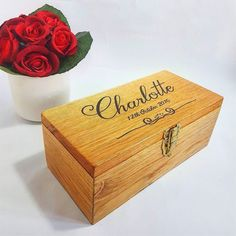 NEW!!! Our exquisite handcrafted oak #wood boxes make beautiful gifts perfect for storing treasured keepsakes and mementos!  #Handmade to order in our studio our solid oak wood boxes have been lovingly designed and crafted using thick heavy European oak timber. The wood is hand-cut then individually sanded and treated to enhance the natural grain and preserve the beauty of the wood. Our boxes are finished with a chic hand #engraved and black infill producing a unique style. Finally our…