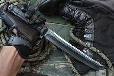 Sensei Camping Knife With Black Ti Coating From Kizlyar Supreme