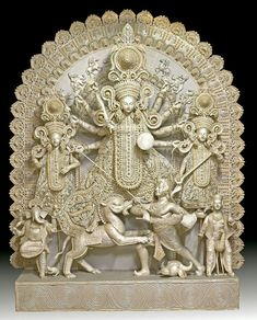 Sholar Saaj Durga Durga Made of Haycinth Plant Shiva Art, Ganesha Art, Hindu Art, Durga Painting, Lord Shiva Painting, Durga Images, Lord Krishna Images, Kali Goddess, Goddess Art
