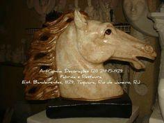 Cabeça de cavalo #cavalo #cavalos #horse #horses #decoração #decoracao #blogdecor #artesanato #gesso #riodejaneiro #errejota #rio