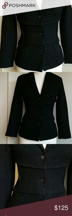 ?? Chanel-like Boucl? Jacket Sz 4 Paris Designer Pristine vintage condition, beautiful detailing with horizontal lines and vertical external darts at waist, small front patch pockets. Will take better pics on sunnier day as difficult to pick up details. Stunning jacket! Samantha Saint Germain Jackets & Coats Blazers