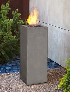 Simultaneously warm and brighten your outdoor space during your fall parties with the Baltic Propane Fire Column that is as visually pleasing as it is functional.