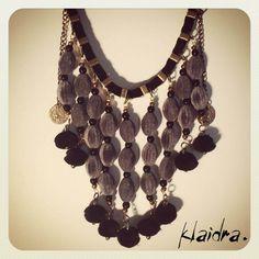 Klaidra *velvet drops* necklace #klaidra #fw15 #newdesigns #designers #jewelry #handmade #bohemian #ethnic #gypsy #fashion #beaded #necklace #greekdesigners #klaidrajewelry
