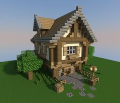 /r/minecraft: After a lot of requests, I finished my building guide for a fancy medieval house. >> Making one of these