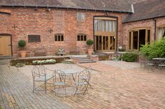 The courtyard at Curradine Barns wedding venue in Worcestershire http://emotivephotography.co.uk