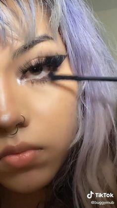 Cute Makeup Looks, Makeup Eye Looks, Pretty Makeup, Cute Emo Makeup, Punk Makeup, Skin Makeup, Beauty Makeup, Maquillage On Fleek, Grunge Hair