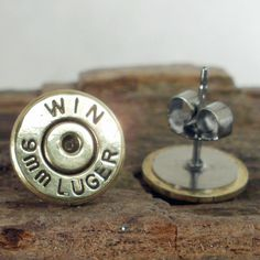 For the next time baby takes me shooting:) Bullet Earrings