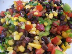 """B"" dubs cafe: black bean salsa  superbowl snack party food idea"
