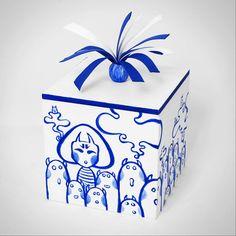 wooden boxes: blue print