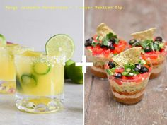 Mango Jalapano Margaritas + 7 layers Mexican dip.  Ready for weekend party.  #craftoftea