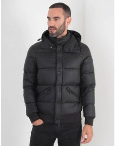 2125421854a9 Armani Jeans Puffa Down Jacket Black