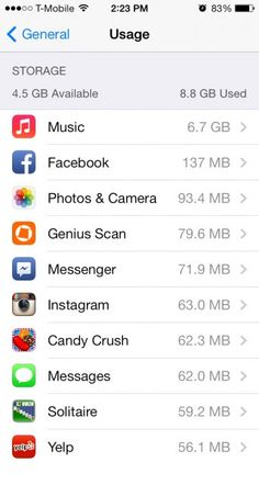 What to delete when your storage is full. Which basically means that I'll be doing these things on a daily basis...