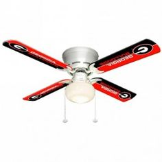 "Sports Fan Products SFP-7999-UGA Georgia Bulldogs 42"" Ceiling Fan with Single Globe Light"