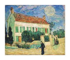 """Vincent van Gogh, """"White House at Night, 1890"""" - Discovered using https://www.getbeautify.com"""
