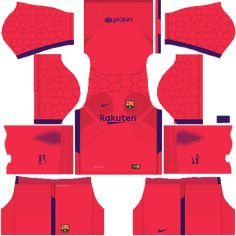 e3468ffda Dream League Soccer Barcelona FC Home Goalkeeper Kits 2018