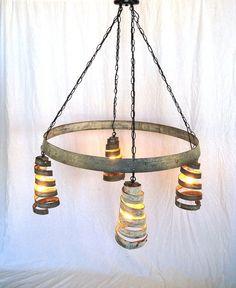 wine barrel projects | Wine Barrel Ring Hanging Pendant Light by winecountrycraftsman, $295 ...