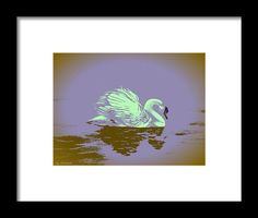 Swan Framed Print featuring the painting Dream Swan by Faye Anastasopoulou Hanging Wire, Framed Art Prints, Swan, Office Decor, Fine Art America, Wall Art, Painting, Collection, Swans