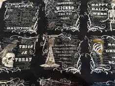 Eerily Elegant Panel in Midnight Black by Deb Strain for Moda Fabrics by BungalowQuilting on Etsy Halloween Runner, Sewing Material, Quilting Fabric, Fabrics, Quilts, Elegant, Trending Outfits, Unique Jewelry, Handmade Gifts