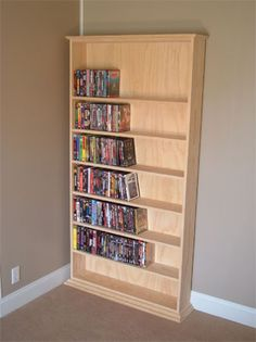Got to get the hubby working on this how to build DVD shelving