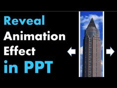 PowerPoint Animation Tutorial - Reveal Effect with Moving Background - YouTube