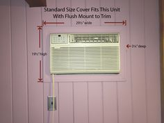 Decorative Indoor AC Cover - Standard and Custom Sizes Available Ac Unit Cover, Ac Cover, Window Air Conditioner Cover, Custom Canvas Prints, Ac Units, Shop Signs, Finding Yourself, The Unit, Indoor