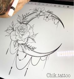 The Most Beautiful Flower Tattoo Designs - The Most Beautiful Flower .- The Most Beautiful Flower Tattoo Designs – The Most Beautiful Flower Tattoo Designs – Moon Tattoo Designs, Mandala Tattoo Design, Flower Tattoo Designs, Flower Tattoo Drawings, Beautiful Flower Tattoos, Small Flower Tattoos, Small Tattoos, Beautiful Flowers, Bird And Flower Tattoo