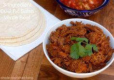 3-Ingredient Crock Pot Salsa Verde Beef