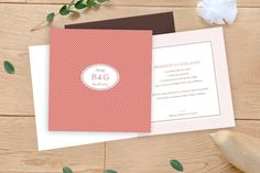 Faire-part mariage (wedding card) : Motif chic 4 pages - by Tomoë pour www.rosemood.fr #mariage #wedding #fairepart