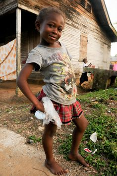 Garifuna girl in Livingston, Guatemala