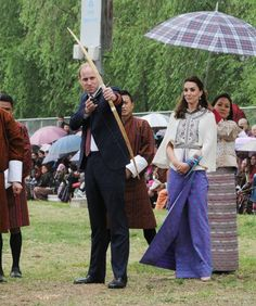 Kate Middleton Photos - Prince William and Kate Middleton Attend a Welcoming Ceremony in Bhutan - Zimbio