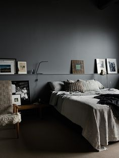 (my) unfinished home: finally ... grey or black bedroom.