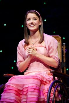 Indiana's own Emily Behny as wheelchair-bound Nessarose (Photo by Joan Marcus)