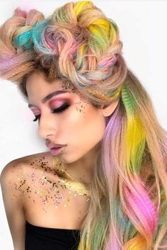 Trendy Hair Color : Cotton candy hair really pleases the eyes. It is far from being usual and this