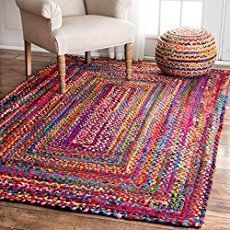 "Rag Rug Instructions (No-Sewing!)--Little House in the Suburbs [ ""Shag Rag Rugs are soft and cozy, warm and inviting and extremely stylish; making them the perfect addition to a nursery or playroom. So, when it came time to pick out a rug for baby Riley's n…"", ""Braided Rag Rug Instructions (No-Sewing!)"", ""Rag rugs usually involve needle and thread. This pattern doesn"