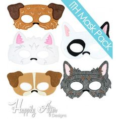 Terriers ITH Mask Embroidery Design Pack