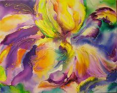 Iris- mixed media, 40/50 cm, 2015, Derecichei Simona Mihaela