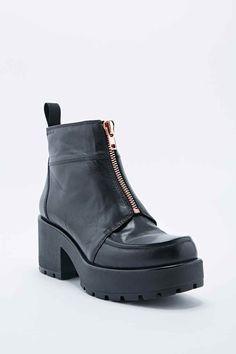 Vagabond - Bottines Dioon noires à devant zippé - Urban Outfitters