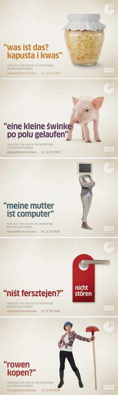 Polsko-niemieckie rymowanki reklamują Goethe-Institut.